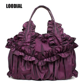 Loodial Brand Designer Bag 2017 Fashion Women Bag Luxry Woman HandbagsVintage silk Hobos Bag Lace Shoulder Bags Bolsa Feminina