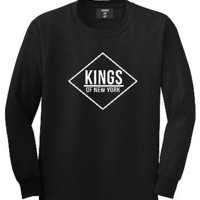 Kings Of NY New York Diamond Logo Tshirt Long Sleeve T-Shirt New Dope Sleeves