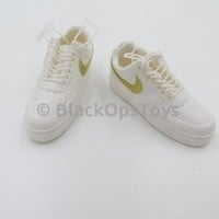 Ace Toyz White Nike Foot Type Shoes