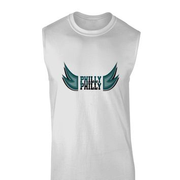 Philly Philly Funny Beer Drinking Muscle Shirt  by TooLoud