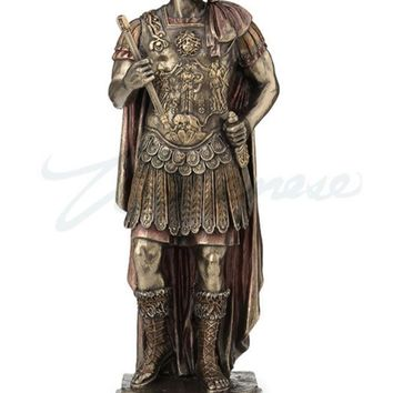 Hadrian Roman Emperor with Military Uniform Portrait Statue 10H