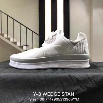 Y-3 WEDGE STAN 2018  White Women Sports Running Shoes Sneaker