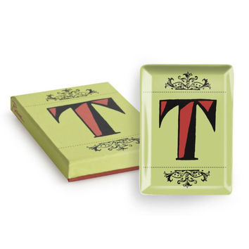 Vintage Character Tray - Letter T