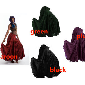 FLAMENCO SKIRT, wrap Skirt, junk GYPSY skirt, belly dancing skirt, long skirt, full skirt, Gypsie skirt, Cvskew