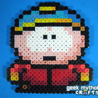 SOUTH PARK Eric Cartman Perler Bead Sprite by GeekMythologyCrafts