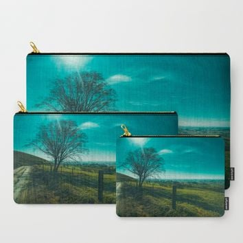 The Walk Home Carry-All Pouch by Mixed Imagery