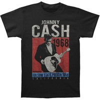 Johnny Cash Men's  One More Song Vintage T-shirt Black