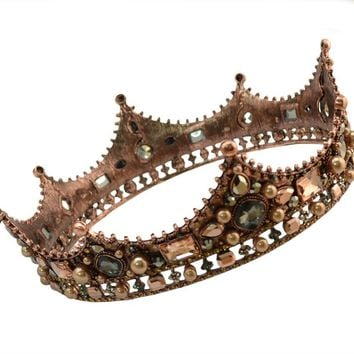 2018 New Arrived Vintage Luxury Bridal Handmade Lace Veil Hair Jewelry Crystal King Queen Crown&Tiaras Women Charms Accessories