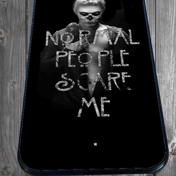 TATEVAN Tate Langdon Evan Peters American Horror Story for iPhone 4/4s/5/5S/5C/6, Samsung S3/S4/S5 Unique Case *95*