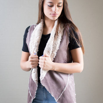 I Want You Back Fur Vest - Brown
