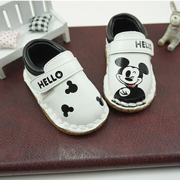 2016 spring autumn New Baby toddler shoes soft bottom non-slip kids shoes infants 0-3 y girls Mickey children Boys Shoes