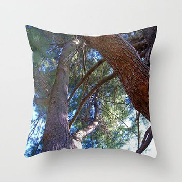 Trees, Nature, Woodland, Zen - Decorative Throw Pillow Cover, 3 Sizes Available - Cottage Decor, Guest Room, Gift - Made To Order - NSLU1#50