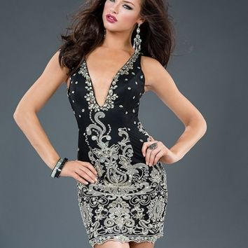 Sexy Little Black Jovani Dress 90308