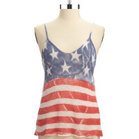 Women's Clothing | Tanks & Camisoles | America Crop Top | Lord and Taylor