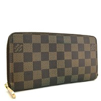 One-nice™ 100% Authentic Louis Vuitton Damier Zippy Zip Around Long Wallet purse /a35