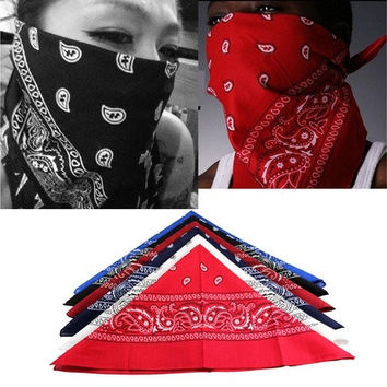 Cotton Blend Scarf Paisley Bandana HeadWrap Hair wrap Double Side Print Headband LUN [9305756935]