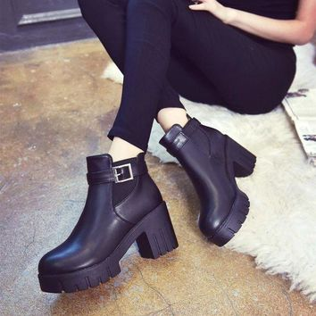 ca DCCKTM4 Dr. Martens Winter With Heel Round-toe England Style Shoes [11144747399]