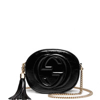Soho Patent Leather Mini Chain Bag, Black - Gucci