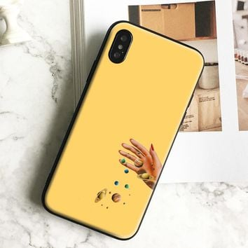 Beautiful yellow aesthetic Soft Silicone Phone Case Cover Shell For Apple IPhone X 8Plus 8 7Plus 7 6SPlus 6s 6Plus 6 Se 5s 5