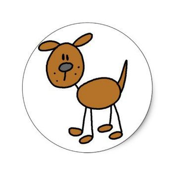 Dog Stick Figure Sticker from Zazzle.com