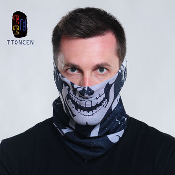 Skull Bandana Multifunctional seamless tube bandana Multi Use Polyester Fiber Snood Quick Dry Hip Hop Head Scarf Bandanas