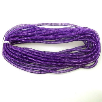 Solid Mesh Tubing Deco Flex Ribbon, 8mm, 10-yard, Violet