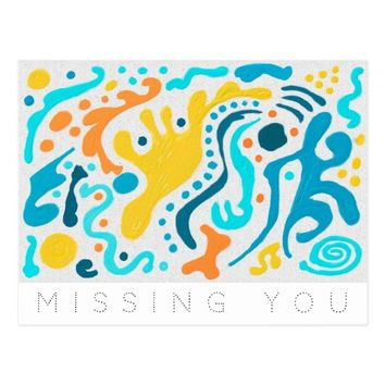 Missing You Diffusion Postcard