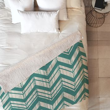 Heather Dutton Weathered Chevron Fleece Throw Blanket