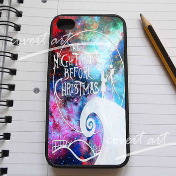 Nightmare Before Christmas in Galaxy Nebula iPhone 4 / 4S / 5 Case Samsung Galaxy S3 / S4 Case
