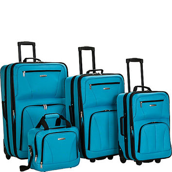 Rockland Luggage Deluxe 4 Piece Luggage Set - eBags.com