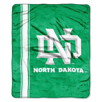 North Dakota Fighting Sioux NCAA Royal Plush Raschel Blanket (Grand Stand Raschel) (50in x 60in)
