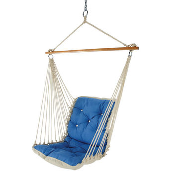 Tufted Single-Person Swinging Hammock Chair at Brookstone—Buy Now!