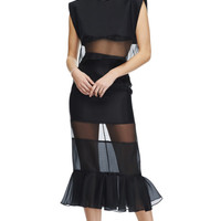 Paneled Silk-Organza Midi Skirt by Karla Špetic Now Available on Moda Operandi
