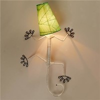 Eco Gecko Sconce with Leaf Shade - Shades of Light