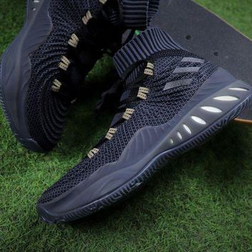 LMFUX5 Adidas Crazy Explosive Boost Black Gold Besketball Sport Shoes Sneaker