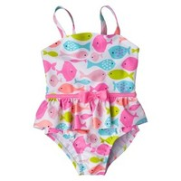 Just One You™ by Carter's® Infant Toddler Girls' 1-Piece Fish Swimsuit