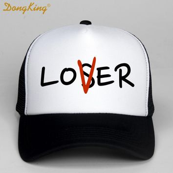 Trendy Winter Jacket DongKing Fashion Trucker Hat Loser Lover Print  Baseball Cap Funny Adult Kids Unisex Trucker Hats Snapback Christmas Gift AT_92_12