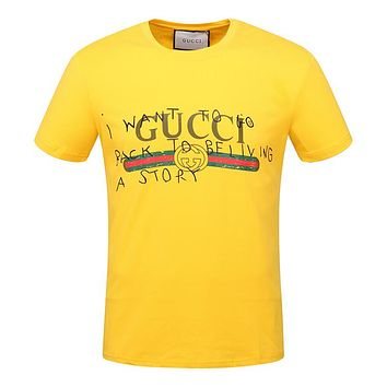 Trendsetter Gucci Women Men Fashion Print Sport Shirt Top Tee