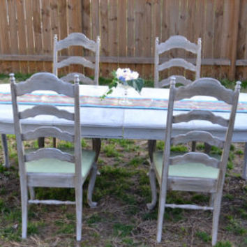 Shabby Chic French Country Ethan Allen Table and by artbyjuliet