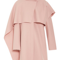 Thakoon Draped Tie-Neck Wool-Blend Coat Blush