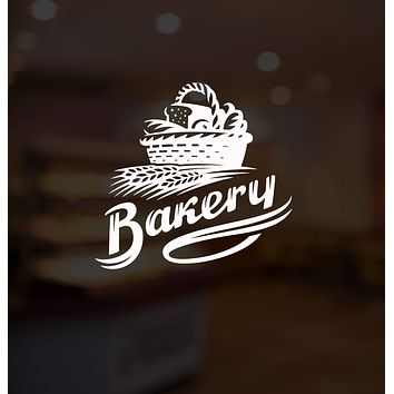 Vinyl Wall Decal Bakery Shop Bread Basket Baking Products Stickers Mural Unique Gift (ig5206)