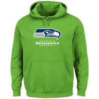Seattle Seahawks Critical Victory Pullover Hoodie - Neon Green