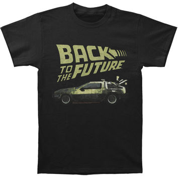 Back To The Future Men's  BTF T-shirt Black Rockabilia