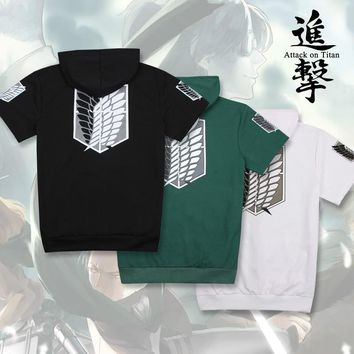 Cool Attack on Titan women menAnime  Cosplay Costume no  Anime T-Shirt Tee Cotton  Anime T Shirt AT_90_11
