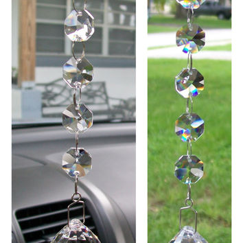 Window Glass Prism Art Hanging Suncatcher Crystals Crystal Mirror Car Charm