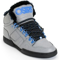 Osiris NYC 83 Grey, Blue & Camp Shearling