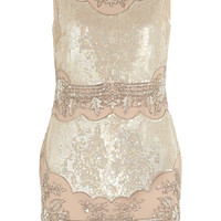 Needle & Thread | Embellished crepe de chine mini dress | NET-A-PORTER.COM