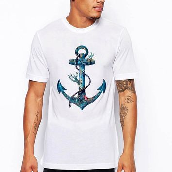Nautical Anchor and Rope Graphic Design t-shirt