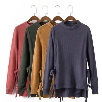 Sweater Knit Tops Women's Fashion Winter Pullover Needles [31069044762]