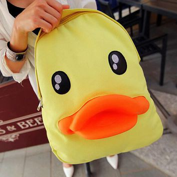 cuter duck backpack canvas bag gift 07  number 1